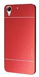 Motomo HTC Desire 728G Metal Kırmızı Rubber Kılıf