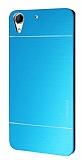 Motomo HTC Desire 728G Metal Mavi Rubber Kılıf
