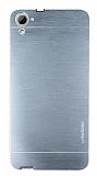 Motomo HTC Desire 826 Metal Silver Rubber Kılıf