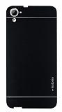 Motomo HTC Desire 826 Metal Siyah Rubber Kılıf