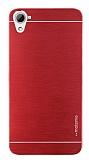 Motomo HTC Desire 826 Metal Kırmızı Rubber Kılıf