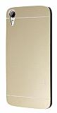 Motomo HTC Desire 828 Metal Gold Rubber Kılıf