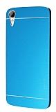 Motomo HTC Desire 828 Metal Mavi Rubber Kılıf