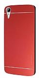 Motomo HTC Desire 828 Metal Kırmızı Rubber Kılıf