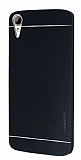 Motomo HTC Desire 828 Metal Siyah Rubber Kılıf