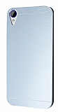 Motomo HTC Desire 830 Metal Silver Rubber Kılıf
