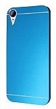 Motomo HTC Desire 830 Metal Mavi Rubber Kılıf