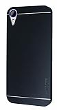Motomo HTC Desire 830 Metal Siyah Rubber Kılıf