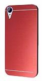 Motomo HTC Desire 830 Metal Kırmızı Rubber Kılıf