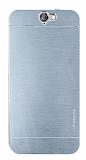 Motomo HTC One A9 Metal Silver Rubber Kılıf