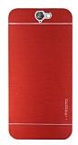 Motomo HTC One A9 Metal Kırmızı Rubber Kılıf
