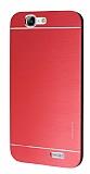 Motomo Huawei Ascend G7 Metal Kırmızı Rubber Kılıf