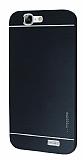 Motomo Huawei Ascend G7 Metal Siyah Rubber Kılıf
