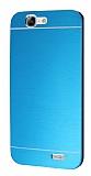 Motomo Huawei Ascend G7 Metal Mavi Rubber Kılıf