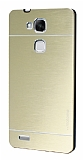 Motomo Huawei Ascend Mate 7 Metal Gold Rubber Kılıf