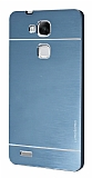 Motomo Huawei Ascend Mate 7 Metal Lacivert Rubber Kılıf