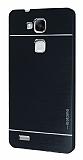 Motomo Huawei Ascend Mate 7 Metal Siyah Rubber Kılıf
