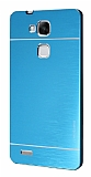 Motomo Huawei Ascend Mate 7 Metal Mavi Rubber Kılıf