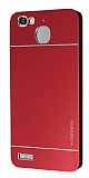 Motomo Huawei GR3 Metal Kırmızı Rubber Kılıf