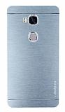 Motomo Huawei Honor 5X Metal Silver Rubber Kılıf