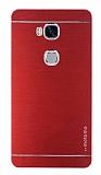 Motomo Huawei Honor 5X Metal Kırmızı Rubber Kılıf