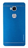 Motomo Huawei Honor 5X Metal Mavi Rubber Kılıf
