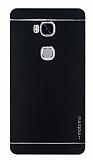 Motomo Huawei Honor 5X Metal Siyah Rubber Kılıf
