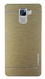 Motomo Huawei Honor 7 Metal Gold Rubber Kılıf