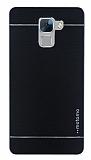 Motomo Huawei Honor 7 Metal Siyah Rubber Kılıf