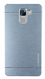 Motomo Huawei Honor 7 Metal Silver Rubber Kılıf