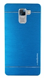 Motomo Huawei Honor 7 Metal Mavi Rubber Kılıf
