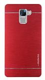 Motomo Huawei Honor 7 Metal Kırmızı Rubber Kılıf