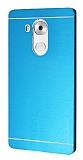 Motomo Huawei Mate 8 Metal Mavi Rubber Kılıf