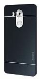Motomo Huawei Mate 8 Metal Siyah Rubber Kılıf