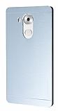 Motomo Huawei Mate 8 Metal Silver Rubber Kılıf