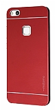Motomo Huawei P10 Lite Metal Kırmızı Rubber Kılıf