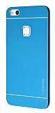 Motomo Huawei P10 Lite Metal Mavi Rubber Kılıf