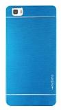 Motomo Huawei P8 Lite Metal Mavi Rubber Kılıf