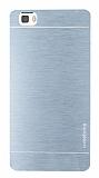 Motomo Huawei P8 Lite Metal Silver Rubber Kılıf