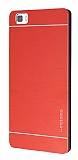 Motomo Huawei P8 Lite Metal Kırmızı Rubber Kılıf
