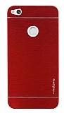 Motomo Huawei P9 Lite 2017 Metal Kırmızı Rubber Kılıf