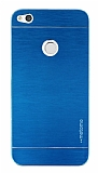 Motomo Huawei P9 Lite 2017 Metal Mavi Rubber Kılıf