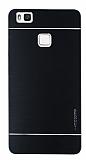 Motomo Huawei P9 Lite Metal Siyah Rubber Kılıf