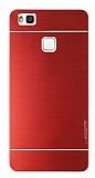 Motomo Huawei P9 Lite Metal Kırmızı Rubber Kılıf