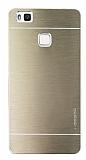 Motomo Huawei P9 Lite Metal Gold Rubber Kılıf