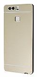 Motomo Huawei P9 Metal Gold Rubber Kılıf