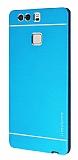 Motomo Huawei P9 Metal Mavi Rubber K�l�f