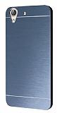 Motomo Huawei Y6 ii Metal Lacivert Rubber Kılıf