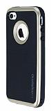 Motomo iPhone 4 / 4S Gold Kenarlı Siyah Silikon Kılıf