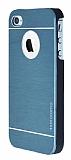 Motomo iPhone 4 / 4S Metal Lacivert Rubber Kılıf